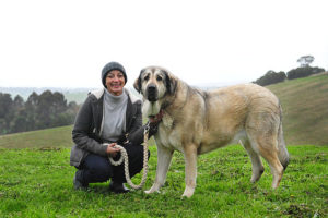 Jan Richards and her dog.