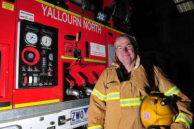Australian Fire Services Medal recipient Lance King.
