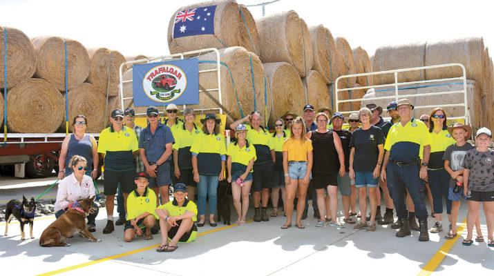 Delivering Hay around to drought stricken Australia